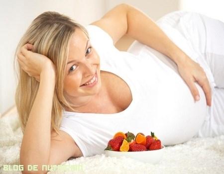 Alimentación en las embarazadas