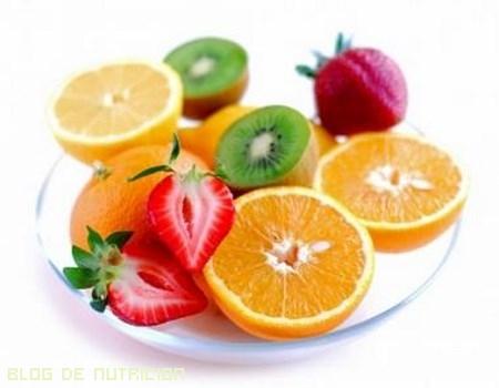 frutas para merendar