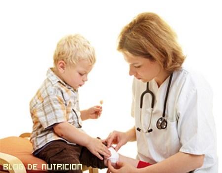 heridas en niños