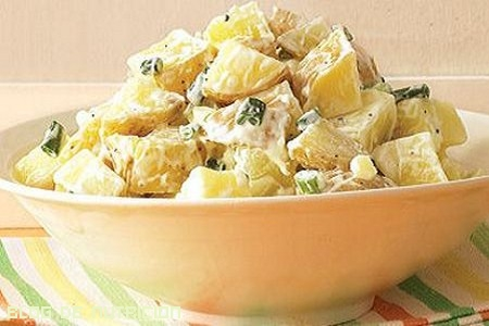 patatas cocidas con mayonesa