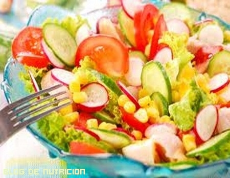 Recetas de ensaladas bajas en calorías