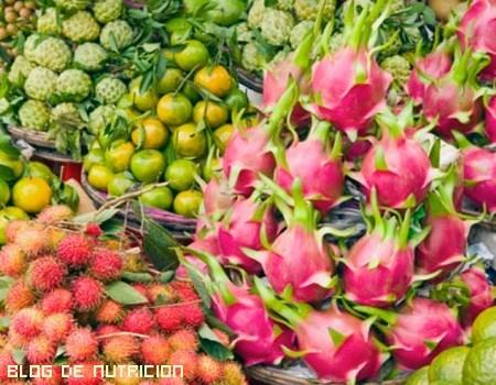 Frutas con vitaminas