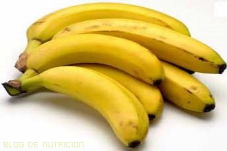 Los plátanos contienen potasio