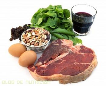 Combinar hierro de origen animal con vegetal