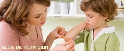 heridas leves en niños