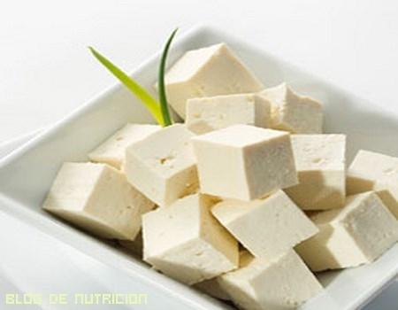 Tofu en cuadrados