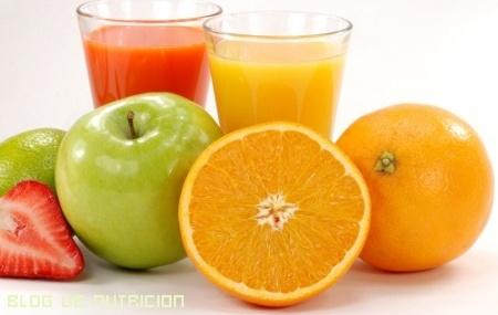 zumos con vitaminas caseros