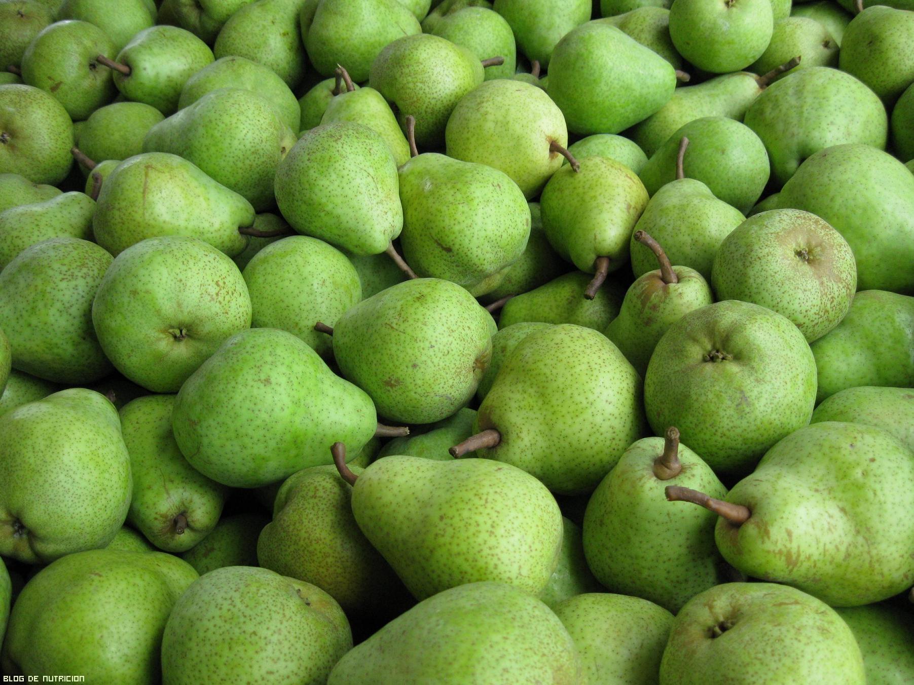 kilos de peras verdes