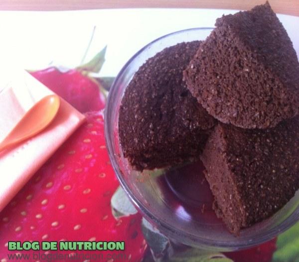 Bizcocho de chocolate bajo en calorías