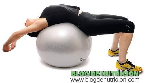 ejercicios de columna con pelota