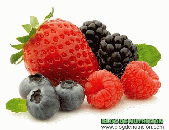 frutos rojos para dietas