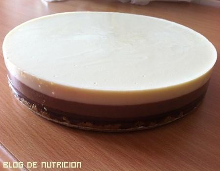 tarta tres chocolates sin nata